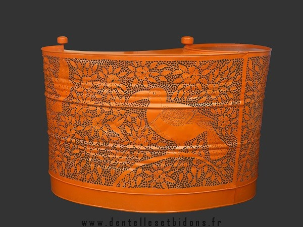 recycled oil drum
