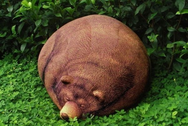 Oversized Hibernating Bear Bean Bag