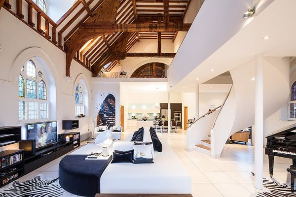 Church Converted into Luxury Apartment by Gianna Camilotti Interiors