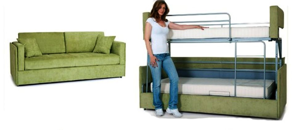 Coupe Sofa Turns Into Comfy Bunk Bed In
