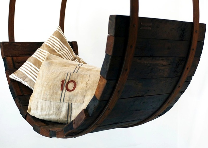 Rocking Horse Chair made from Tuscan wine barrels