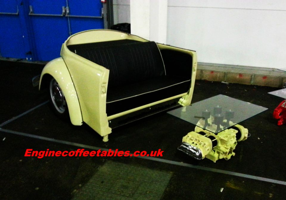 VW Beetle Sofa and Coffee Table by EngineCoffeeTables