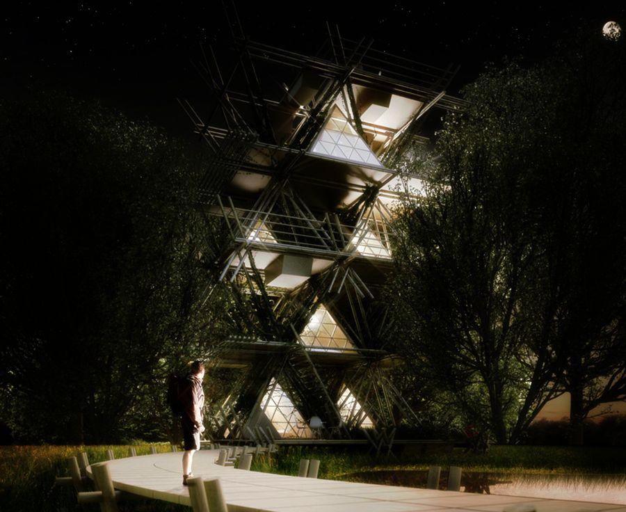 Penda One with the Birds Modular Bamboo Hotel