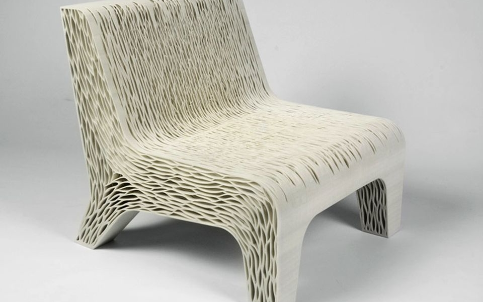 3D Printed Biomimicry chair by Lilian van Daal