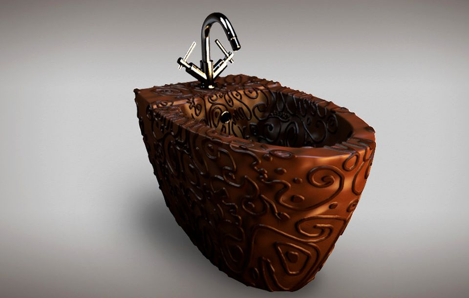 Bathroom made of Belgian Chocolate
