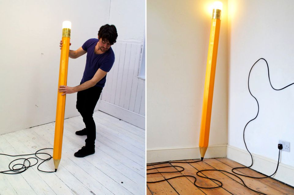 HB Pencil Lamp by Michael & George