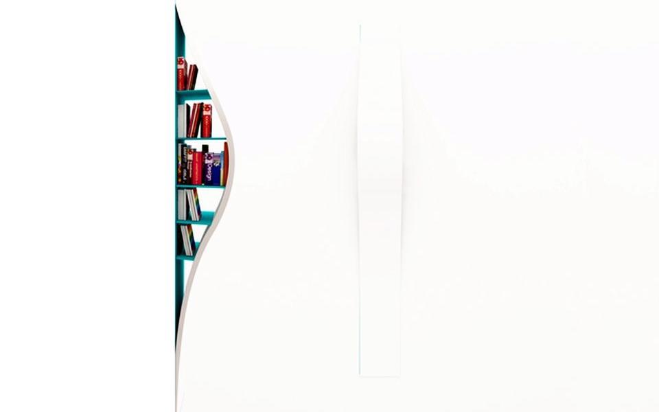 Invisible Bookshelf by Lenka Czereova