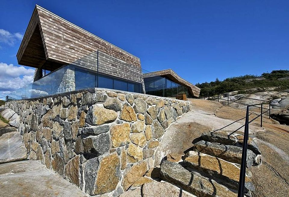 Stone walls support the structure firmly