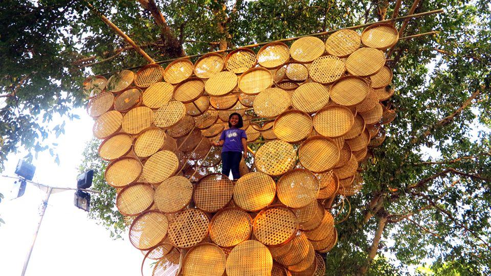 Bamboo-weaved Treehouse by Budi Pradono Architects