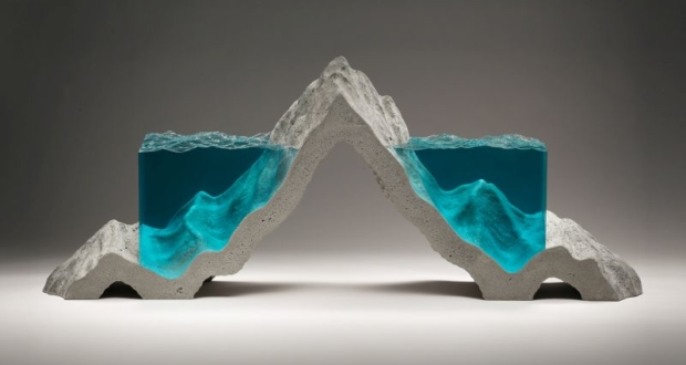 Ben Young's Creates Unrealistic Concrete and Glass Sculptures