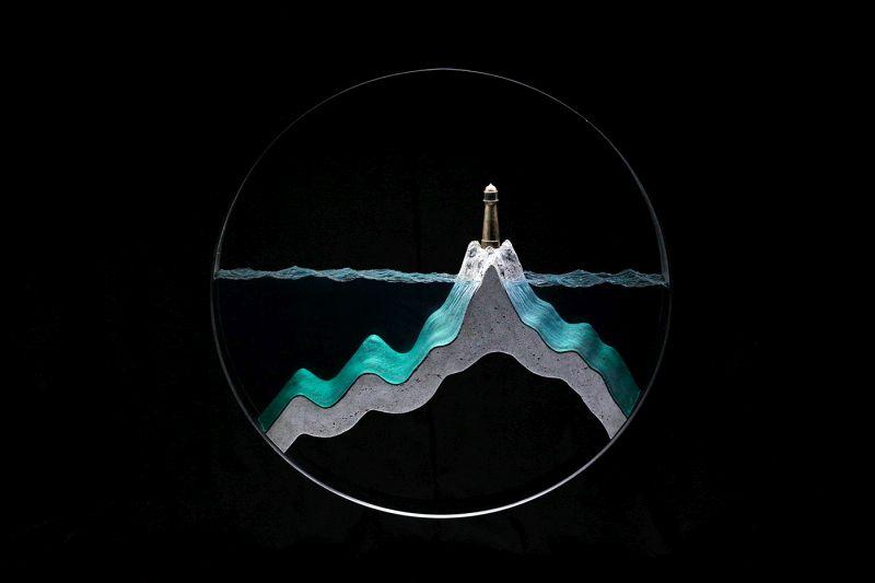 Ben Young's Creates Unrealistic Concrete and Glass Sculptures