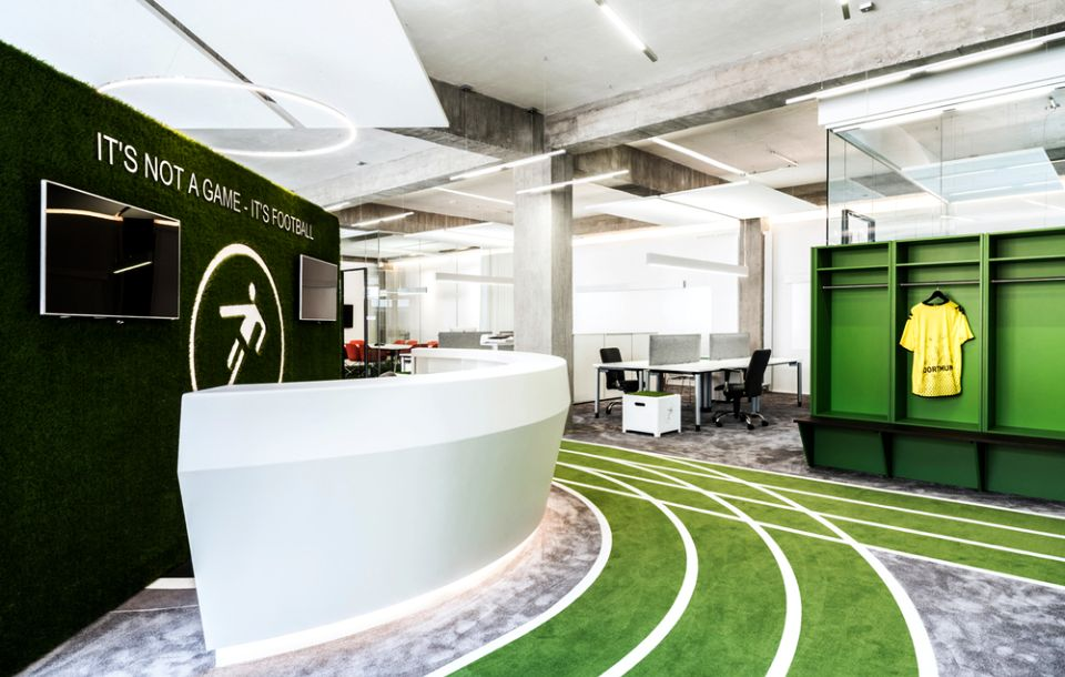 Football-themed Office by TKEZ-Architects