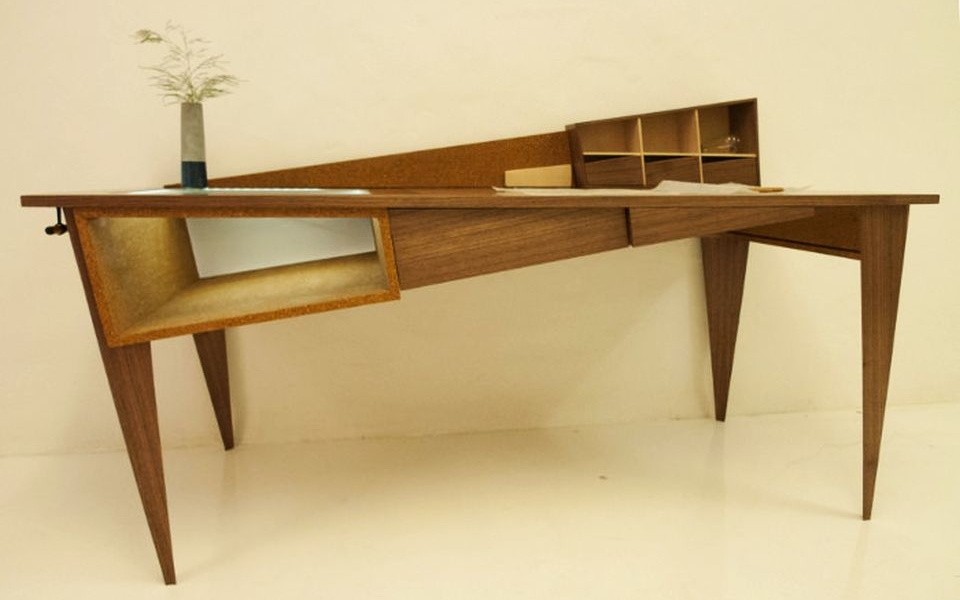 Inclined Office Table by Simon Cabrol