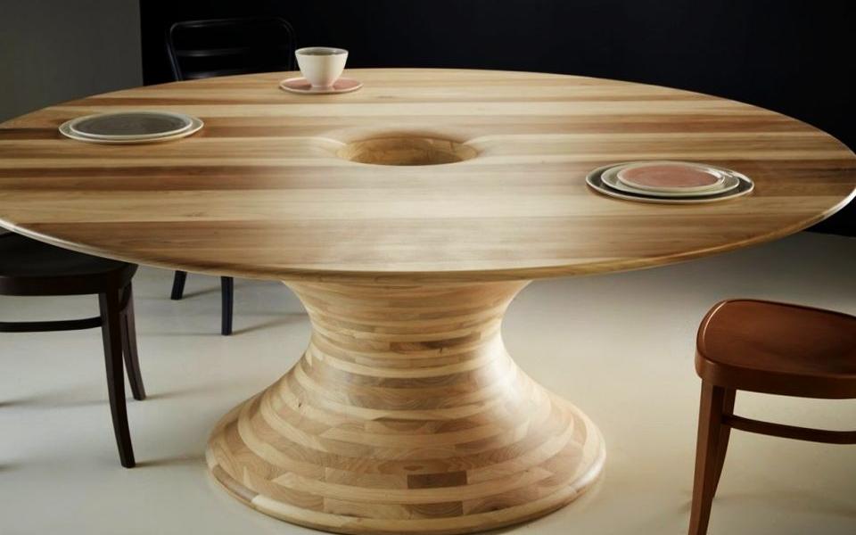Round Tulipwood Table