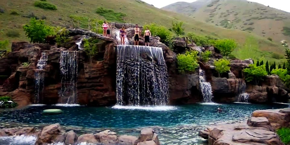 This 2 Million Natural Swimming Pool Features 5 Spectacular Waterfalls Homecrux