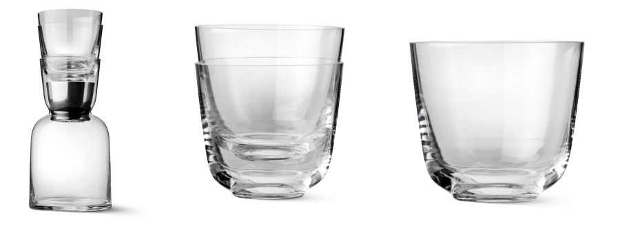 Stackable Mouth Blown Glasses