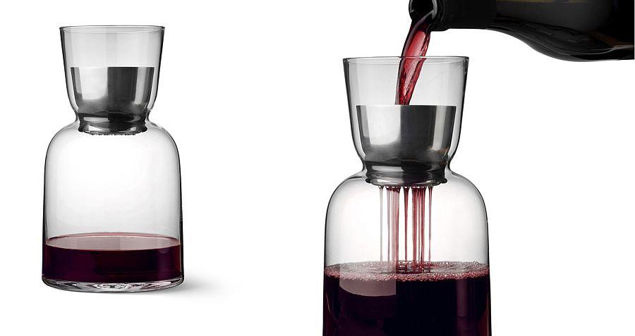 Enhances the taste of wine