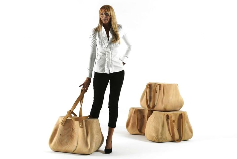 Wooden Handbag-shaped Stool by AmeBe