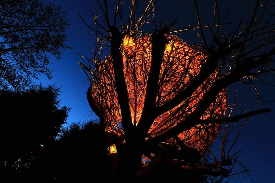 Woven Treehouse by Tom Hare