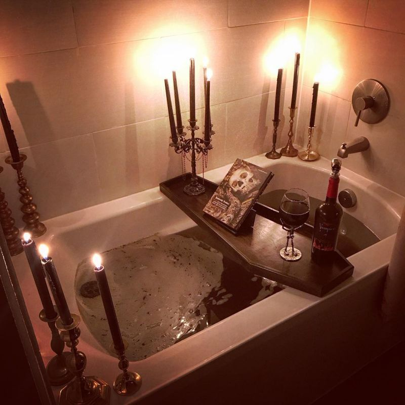 Amaze guests with witch-themed bathroom