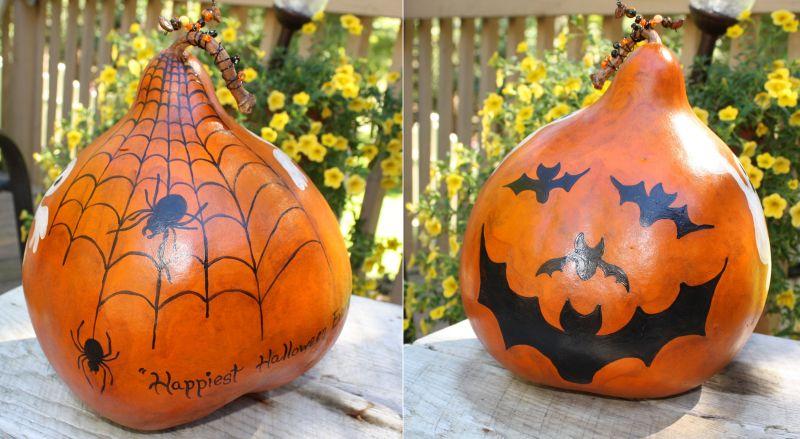 Bottle gourd halloween decor