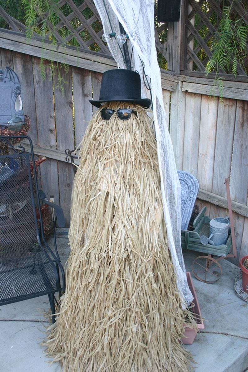 Grass scarecrow