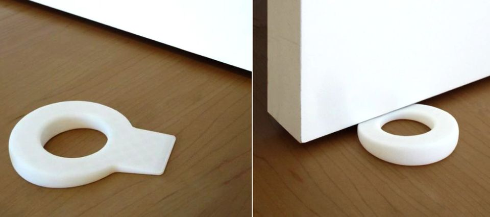 Keyhole-shaped Door Stopper by Hector Diego