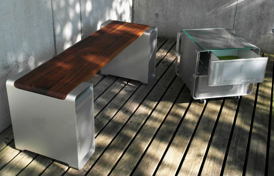 Klaus Geiger Converts Retired G5 Macs into Functional Office Furniture