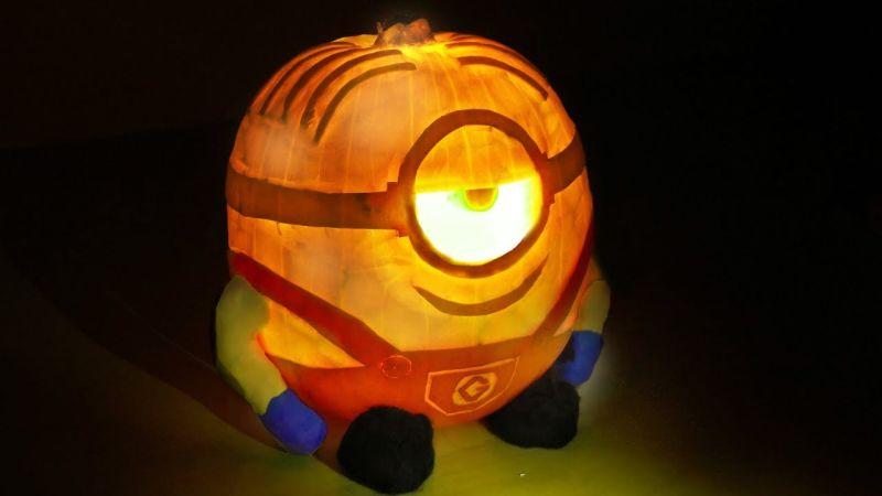 Minion jack-o'-lantern by Dave Hax