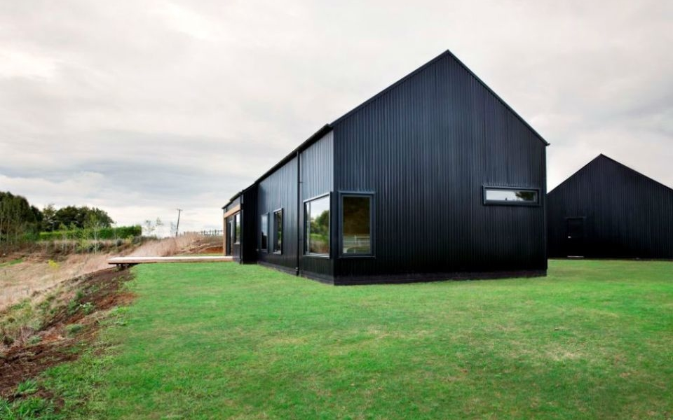 Modern Black Barn House