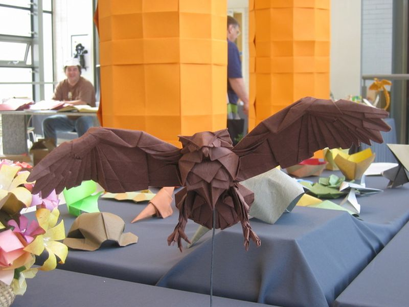 DIY origami owl for Halloween