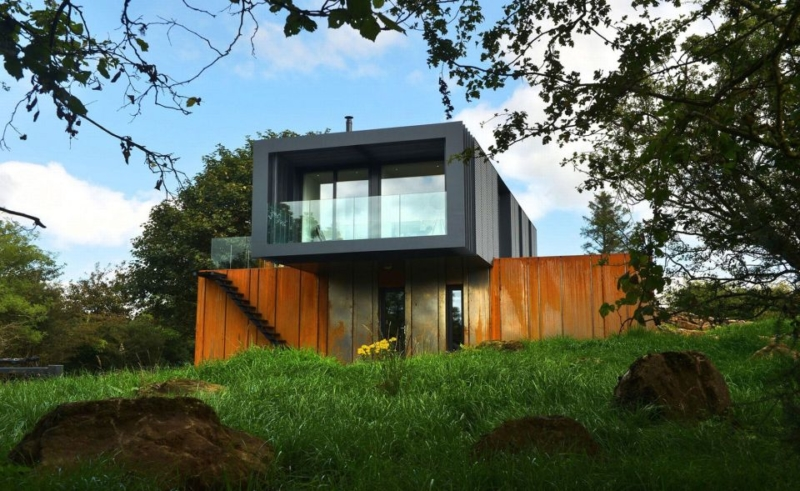 Patrick Bradley's £133k home built from four shipping containers