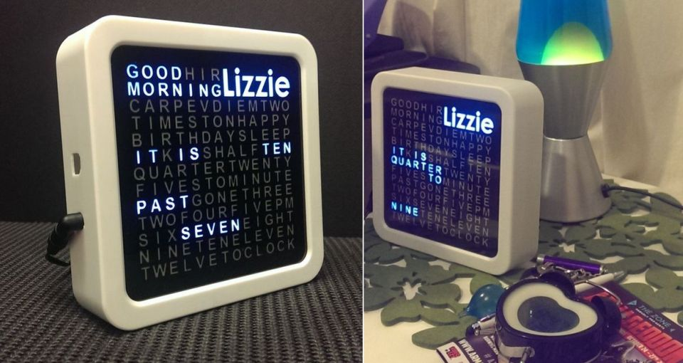 Personalized Word Clock
