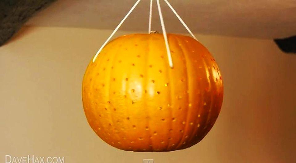 Pumpkin Disco Ball for Halloween