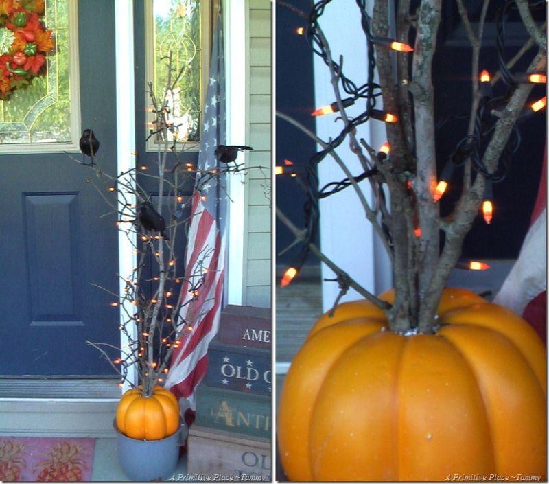 Pumpkin Halloween tree