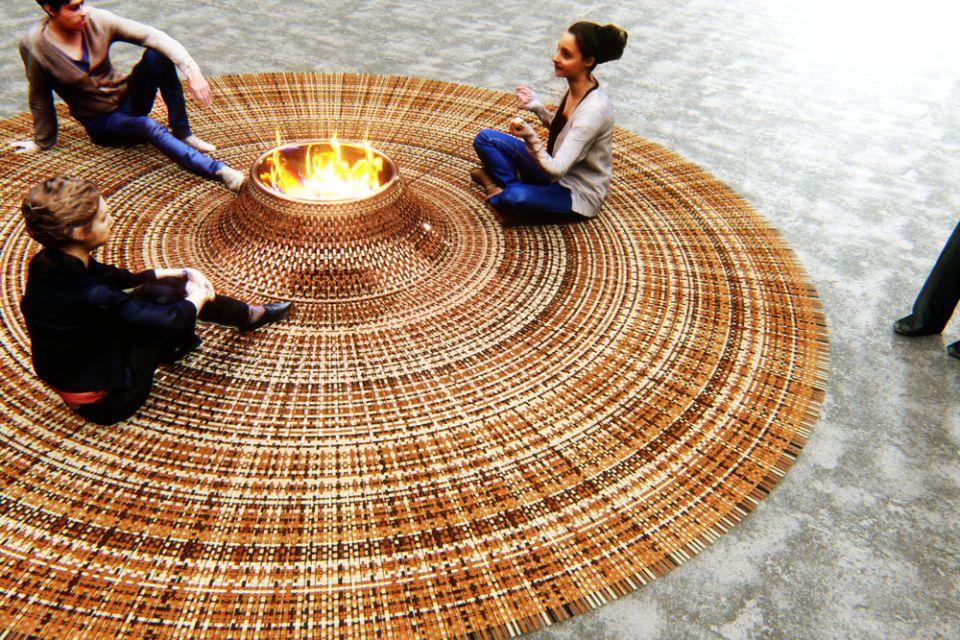 Stephanie Langard's Domestic Gathering Carpet
