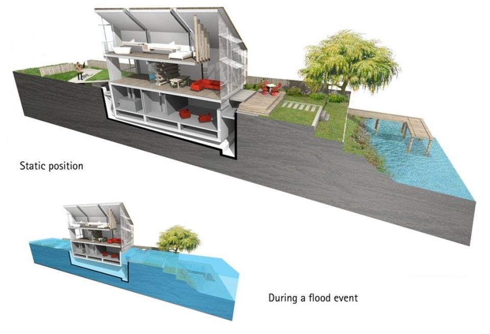UK's First Amphibious House by Baca Architects