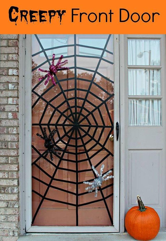 Front door decoration for Halloween