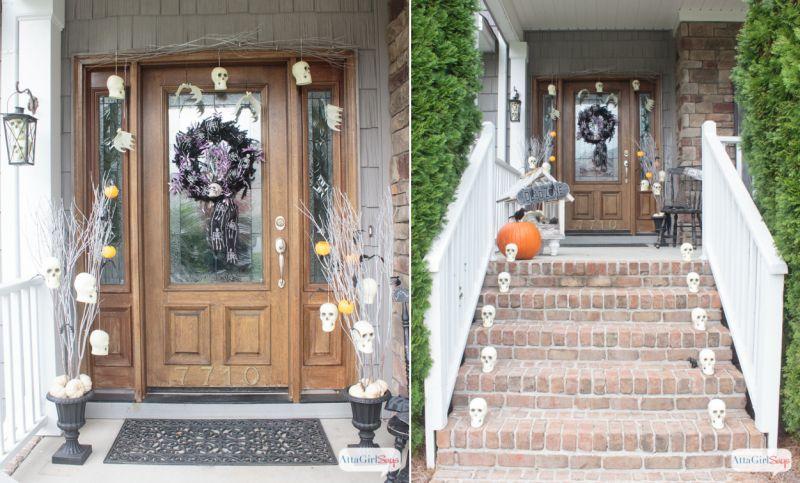 skull halloween front porch halloween decor