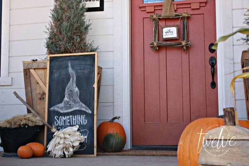 witch decor front porch halloween