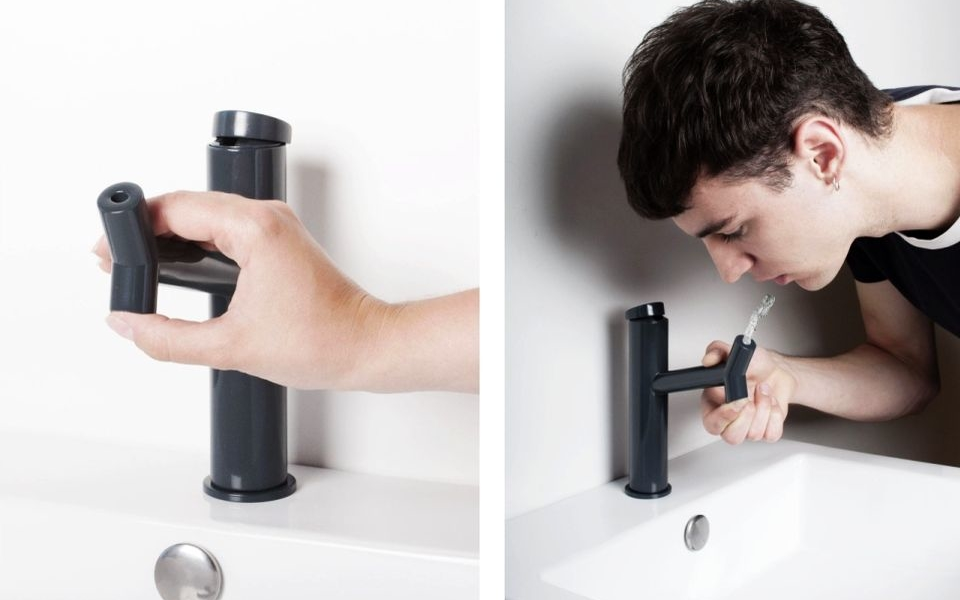 3D-printed Down Up Faucet