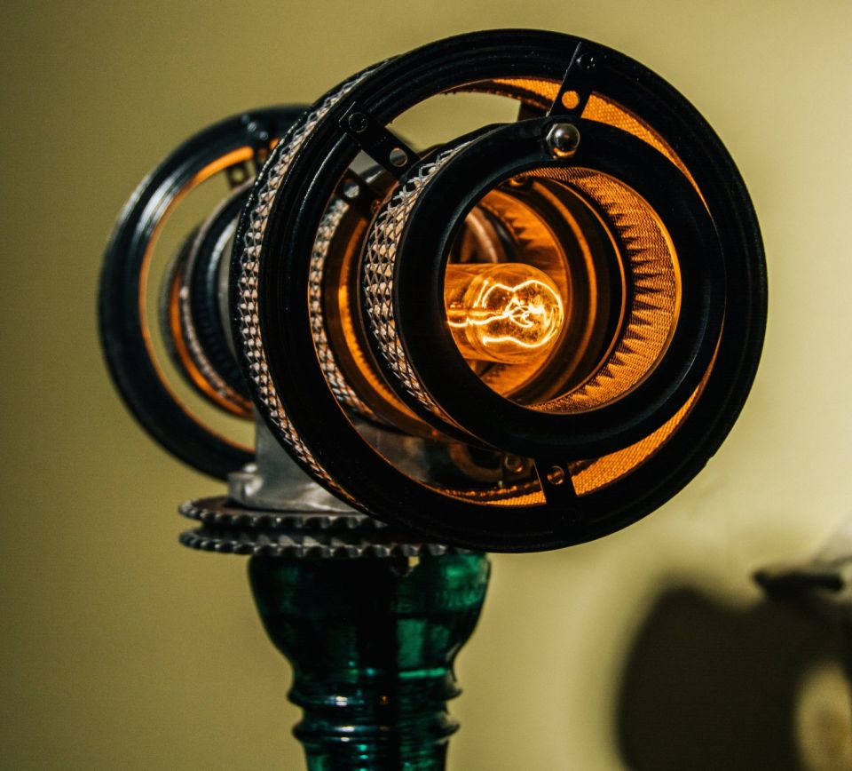 Atlas V16 Steampunk Lamp by Futility Studios