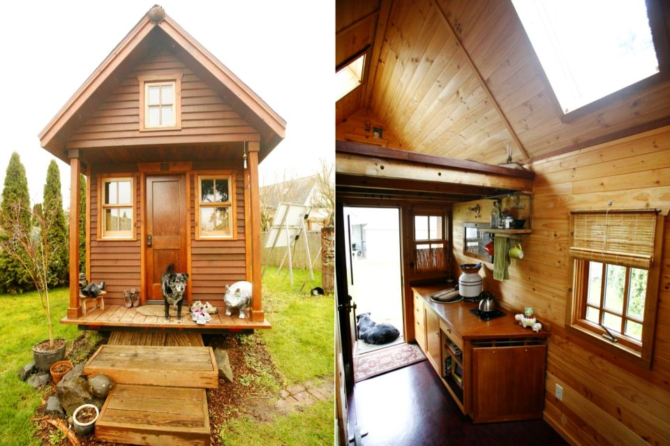 Canberra builds a log cabin on trailers to live a simpler life