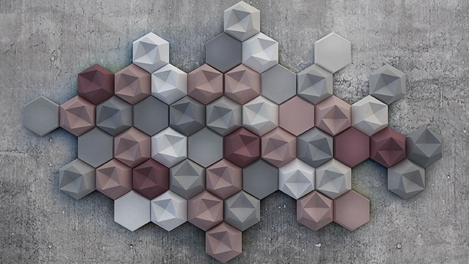Edgy Wall Tiles by Kaza Concrete