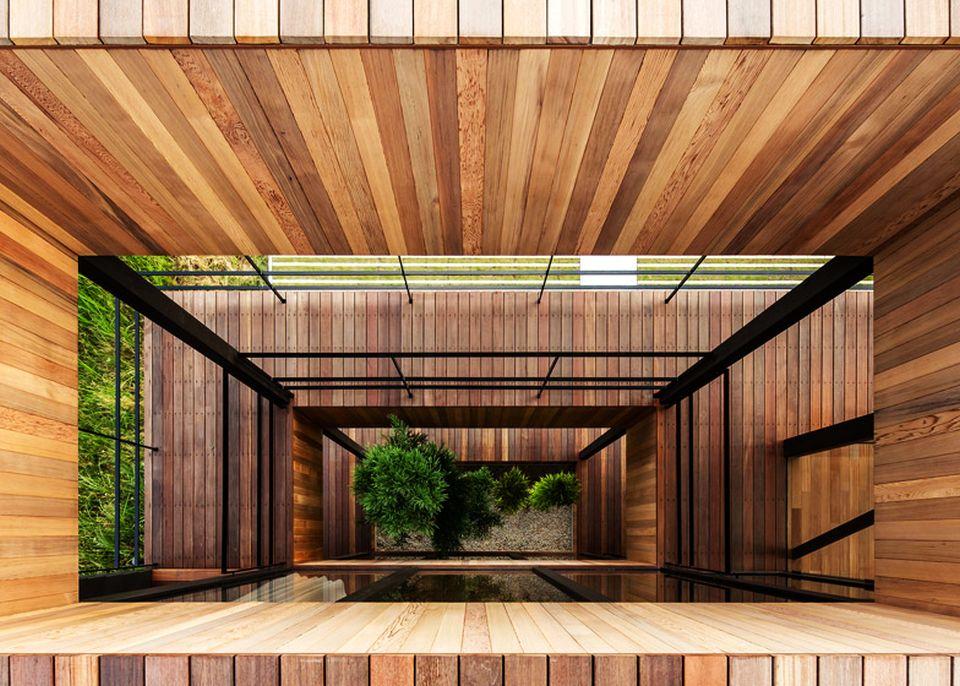 Glass + Wood Building by Hamada Design