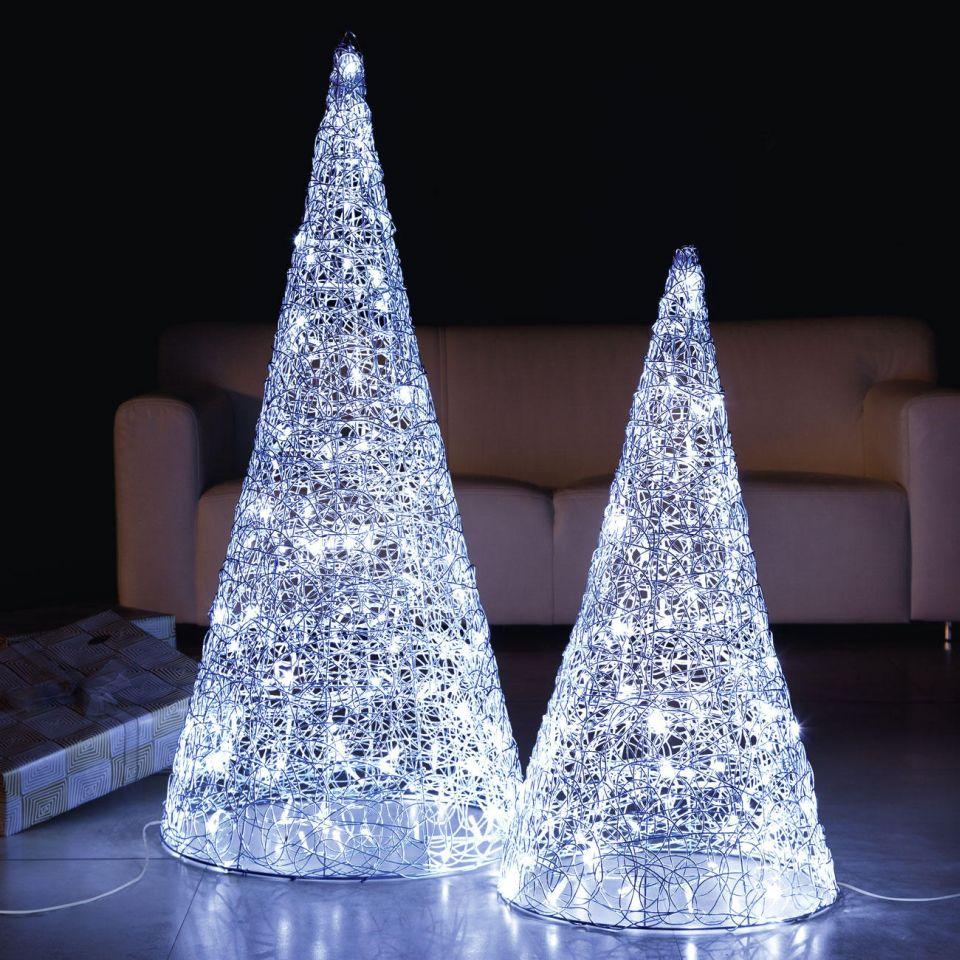 Handwoven Shimmering Light Pyramids