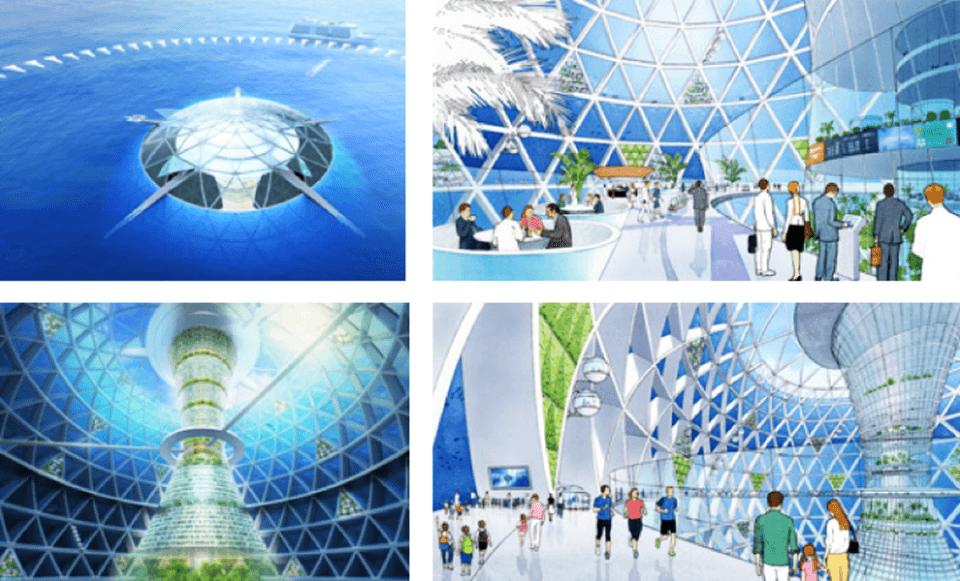 Ocean Spiral Futuristic Underwater City