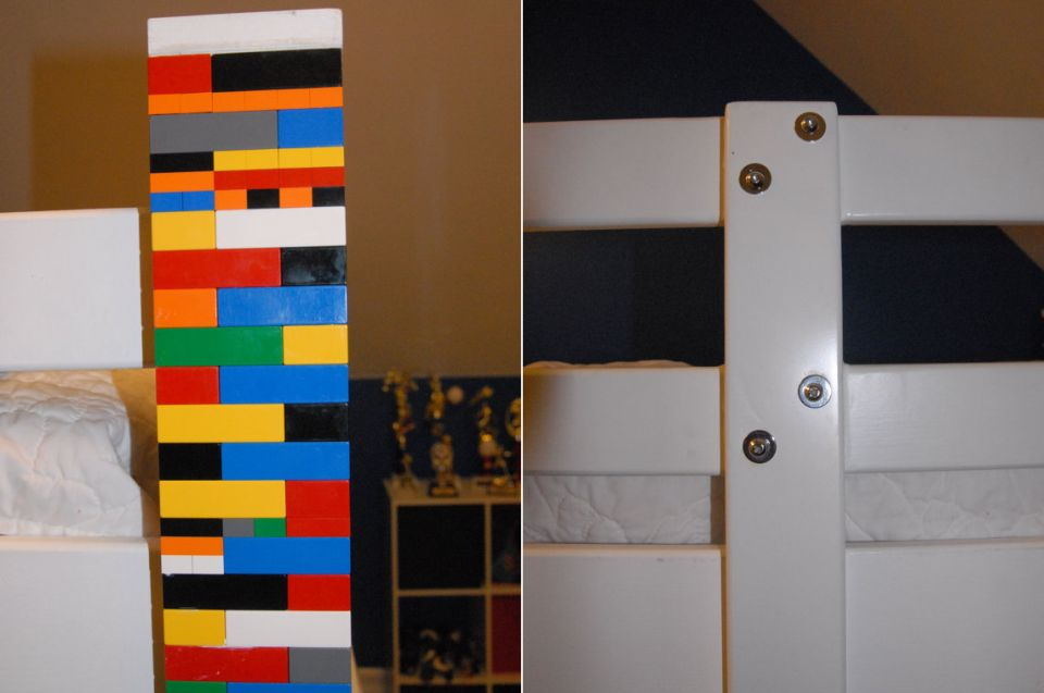 Bunk Bed Custom-made with recycled Lego Bricks