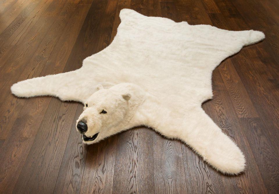 Fluffy Polar Bear Rug