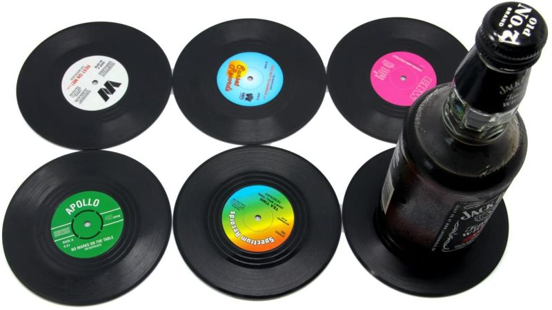 vinyl record coasters Christmas fifts for music lovers